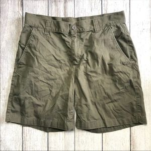 The North Face Army Green Cargo Shorts 34 Long